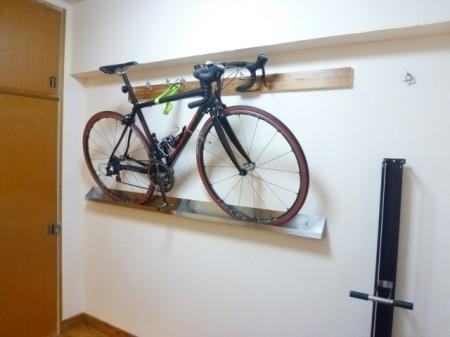 自転車 壁掛け(オリジナルレール)